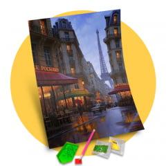 Tela  Bela Paris - Pintura com Diamantes