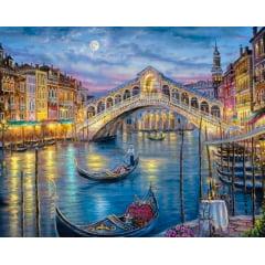 Tela  - Veneza Ponte Rialto - Pintura com Diamantes