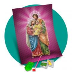 Tela  - Sagrada Família - Pintura com Diamantes