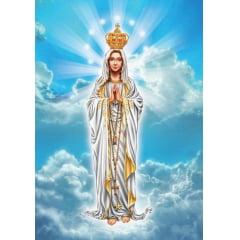 Tela  - Maria de Nazaré - Pintura com Diamantes