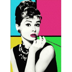 Tela  Diva Audrey - Pintura com Diamantes