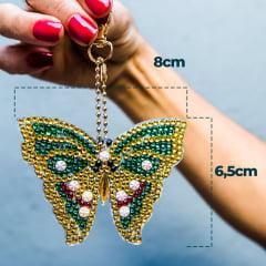 Kit Chaveiros em Pintura com Diamantes | Borboletas | Diamond Painting 5D DIY