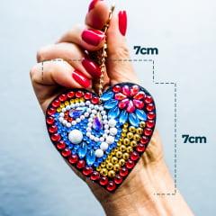 Kit Chaveiros em Pintura com Diamantes | Corações | Diamond Painting 5D DIY