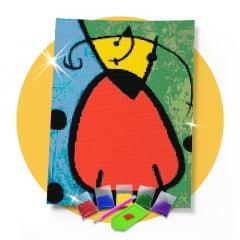 Kit Pintura com Diamantes | Joan Miró - Educador de almas 30x42cm - Diamante Redondo | Diamond Painting 5D DIY