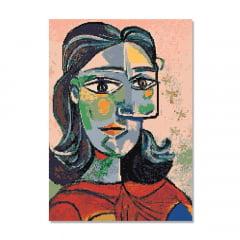 Kit Pintura com Diamantes   Picasso - Olhar Releitura 42x60cm - Diamante Redondo   Diamond Painting 5D DIY