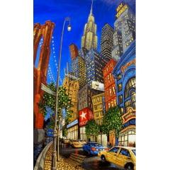 Tela Nova York - Pintura com Diamantes