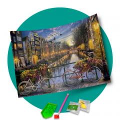 Tela Encantos de Amsterdam - Pintura com Diamantes