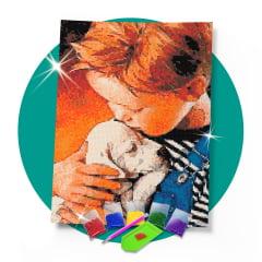 Kit Pintura com Diamantes | Tela Amigos de Infância- 30 x 42 cm - Diamante Redondo | Diamond Painting 5D DIY