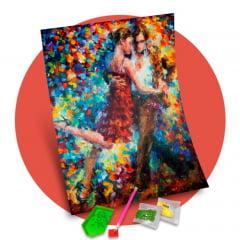 Pintura Com Diamantes - Dança com Arte - 48 x 58 cm - Diamante Redondo