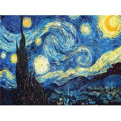 Pintura Com Diamantes - Tela Noite Estrelada - 38 x 48 cm