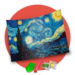 Pintura Com Diamantes - Tela Noite Estrelada - 48 x 58 cm - Diamante Redondo
