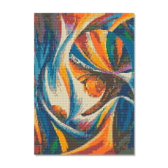 Kit Pintura com Diamantes | Tela Beleza e Amor - 30 x 42 cm - Diamante Redondo | Diamond Painting 5D DIY
