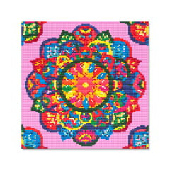 Tela Mandala Colorida - 30 x 30 cm - Diamante Redondo