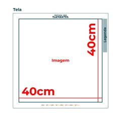 Tela Mandala Multi Cores - 40 x 40 cm - Diamante Redondo