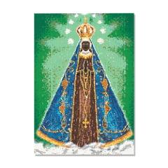 Tela Nossa Senhora Aparecida - 42 x 60 cm - Diamante Redondo