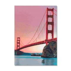 Kit Pintura com Diamantes   Tela Ponte Golden Gate São Francisco - 42 x 60 cm - Diamante Redondo   Diamond Painting 5D DIY