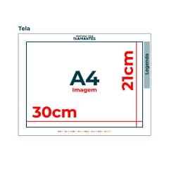 Tela All Stars - 30 x 21 cm - Diamante Redondo