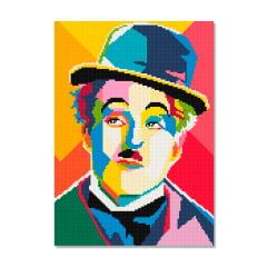 Tela Charlie Chaplin - 30 x 42 cm - Diamante Redondo