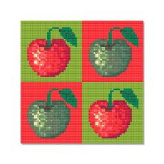 Tela Maças - 21 x 21 cm - Diamante Redondo