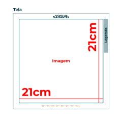 Tela Motocicleta - 21 x 21 cm - Diamante Redondo
