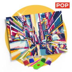 Tela Nova York Colorida - 42 x 30 cm - Diamante Redondo