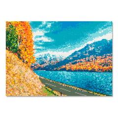 Tela Viagem com Paisagem - 42 x 30 cm - Diamante Redondo