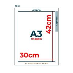 Tela Wolverine - 30 x 42 cm - Diamante Redondo