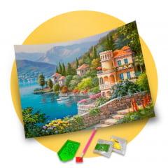 Pintura Com Diamante - Tela Vista Linda - 58 x 48 cm